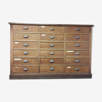 Wood furniture has drawers