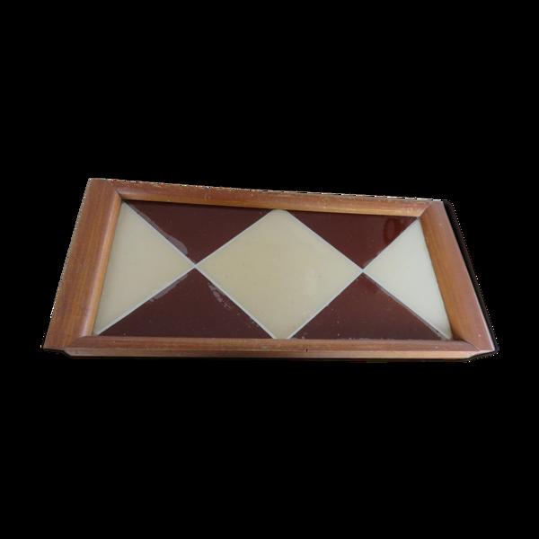 Plateau art deco motif géométrique années 30 40