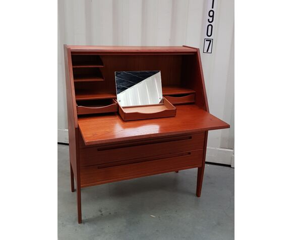Teak writing desk design Nils Johnson edit by HJN Möbler