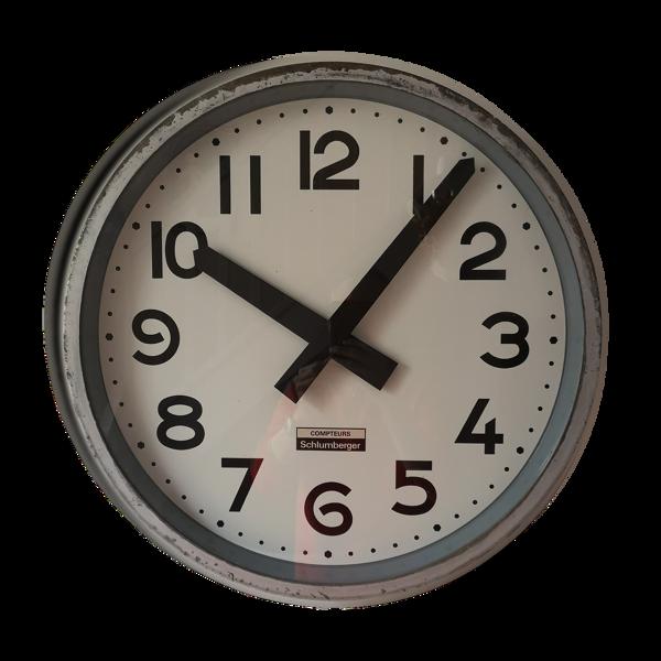 Horloge d'usine Schlumberger