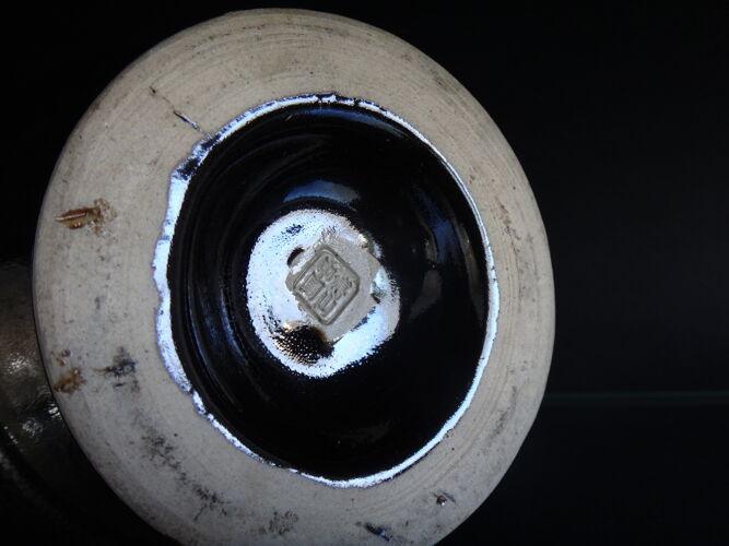 Vase balustre chinois céramique 32cm goutte d'huile Chine