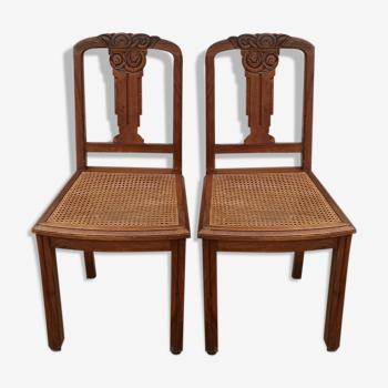 Paire de chaises des années 30