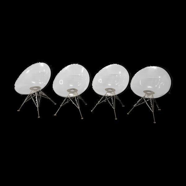 Selency Ensemble de 4 chaises Eros de Phillippe Starck éditées par Kartell