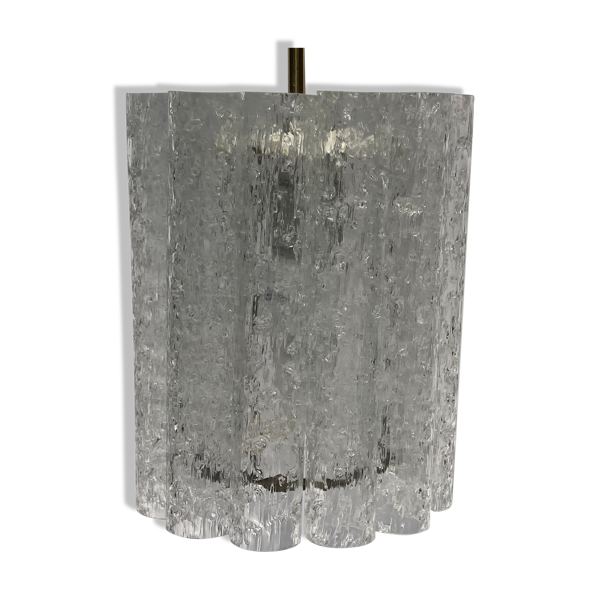 Lustre en verre de glace de Doria