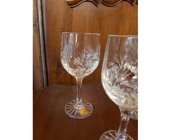 6 verres cristal les grands ducs h 17.8 cm