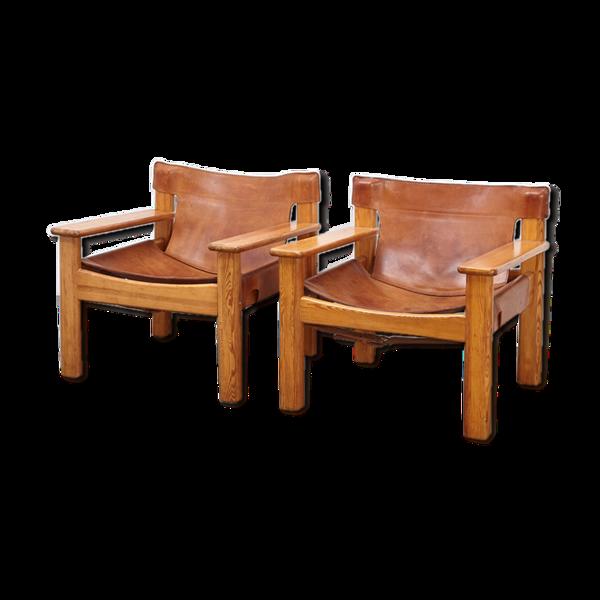Selency Paire de chaises longues Natura par Karin Mobring pour Ikea années 1970