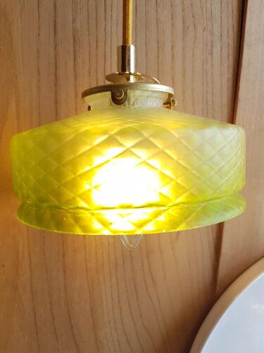 Suspension lampe baladeuse globe vintage