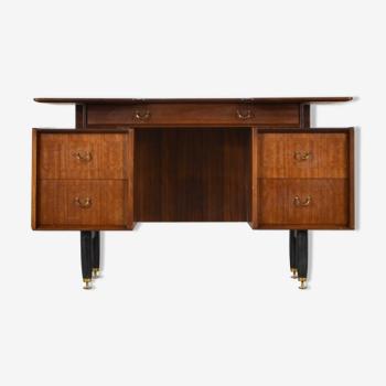 Bureau «Librenza» des années 1950 par Donald Gomme pour G Plan à Tola Wood. Vintage / Moderne / Midcentury / Rétro