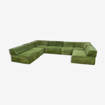 Canapé Modulaire Cor Trio en tissu en pelable vert original