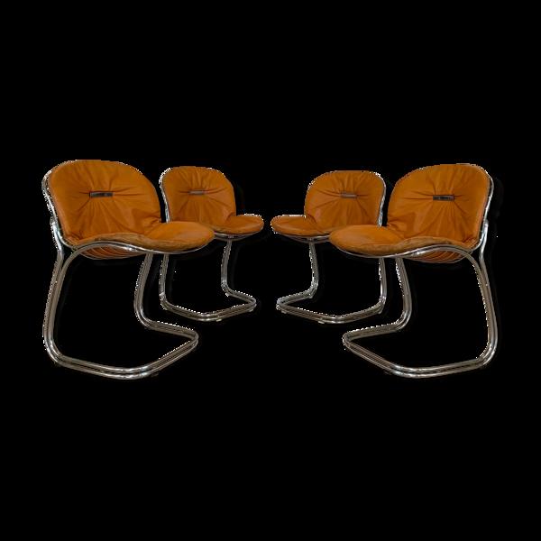 Suite de 4 chaises de Gastone Rinaldi, modéle Sabrina