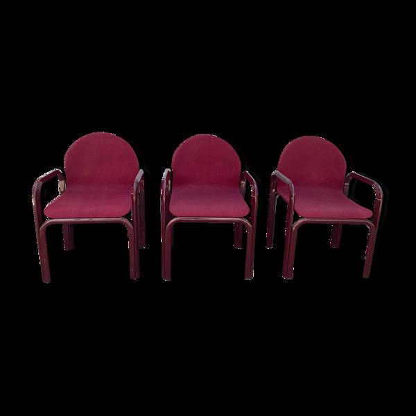 Lot de 3 fauteuils dessiné par Florence Knoll 1980