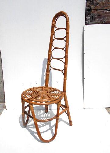 Paire de chaises en rotin Dirk Van Sliedregt, années 1950