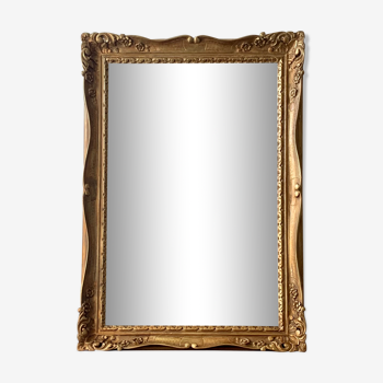 Miroir mural doré vintage