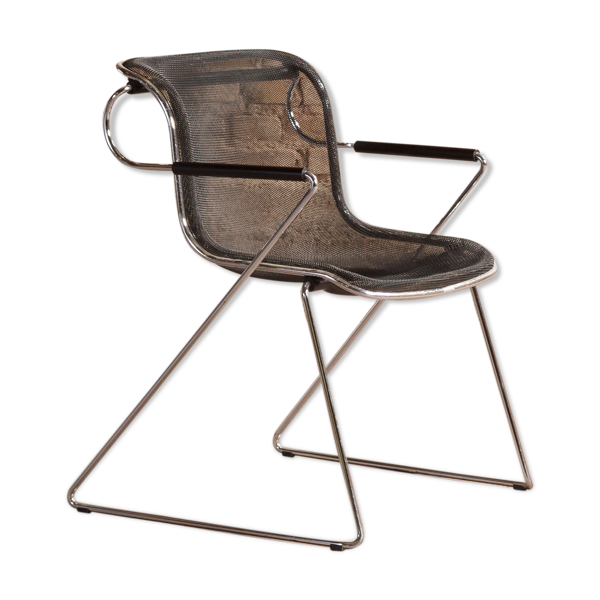 Fauteuil Penelope de Charles Pollock pour castelli since 1980 made in italy