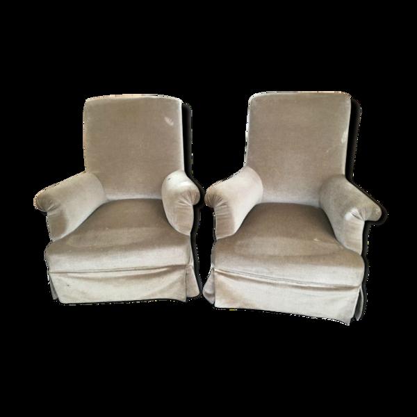 Selency Paire de fauteuils de repos XIXeme