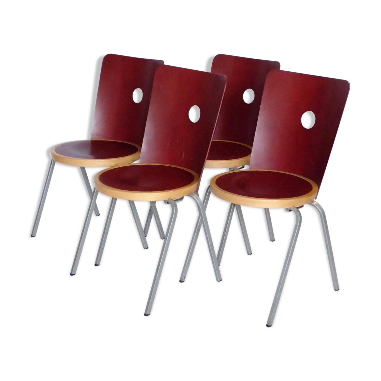 Set de quatre chaises Bla Station