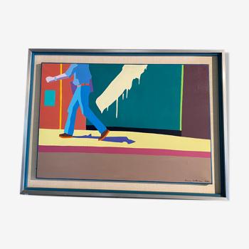 Peinture années 1980 de l'artiste Pierre Wittmann