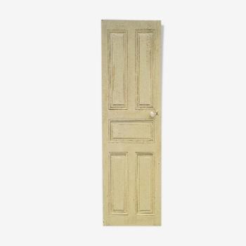 Ancienne porte intérieur bois peint vintage poignée porcelaine N°4