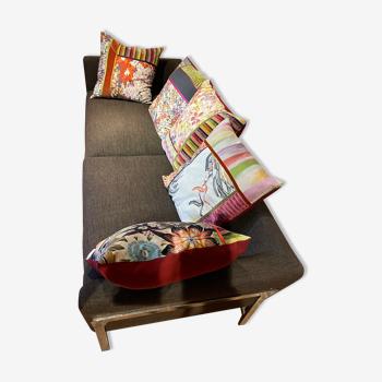 Roche Bobois sofa with Missoni cushions