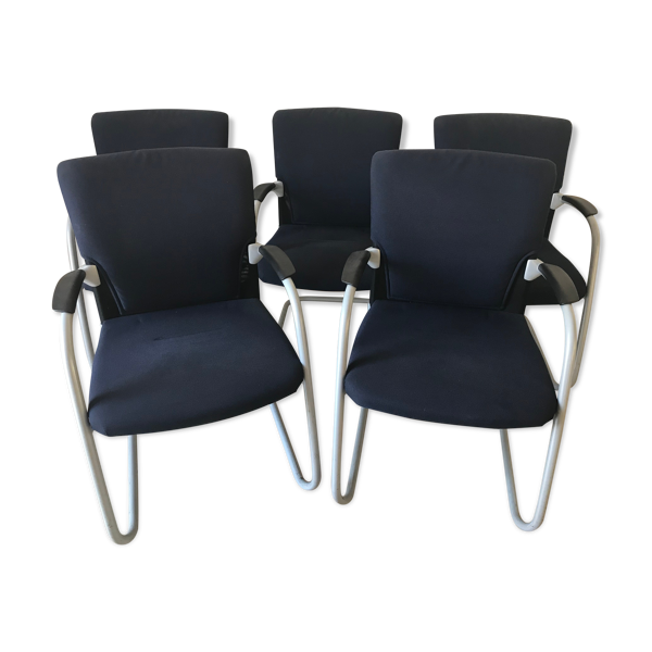 Lot de 5 chaises conference