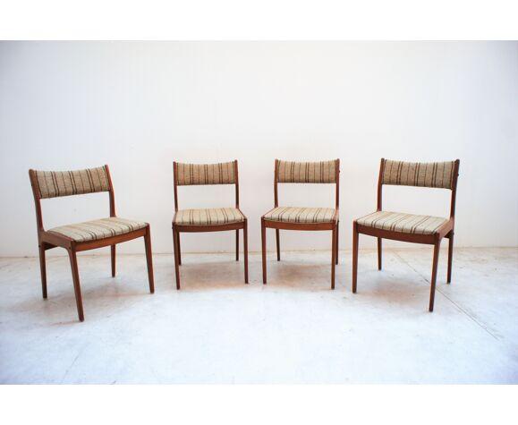 Set de 4 chaises en teck massif Johannes Andersen