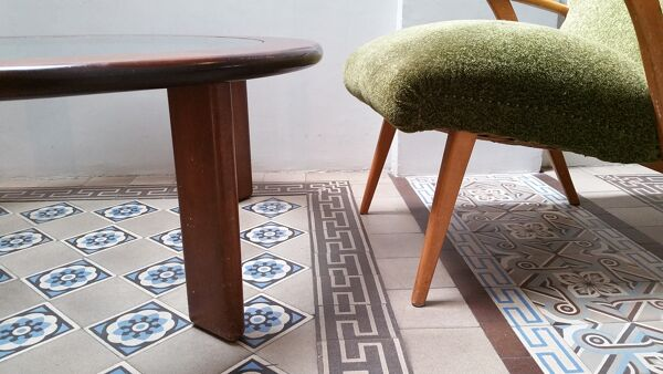1  table basse ronde  113cm