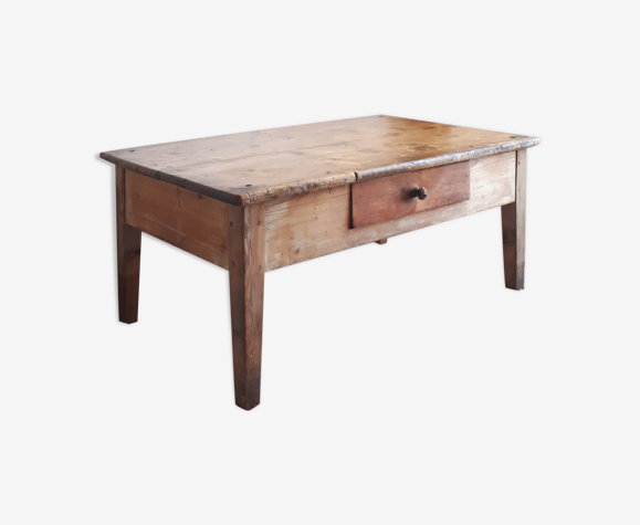 Table basse ancienne esprit table de ferme