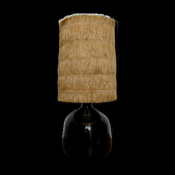 Lampe en verre de Claude Morin, années 70