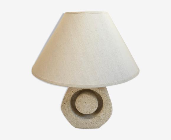 Lampe en pierre sculptée vintage