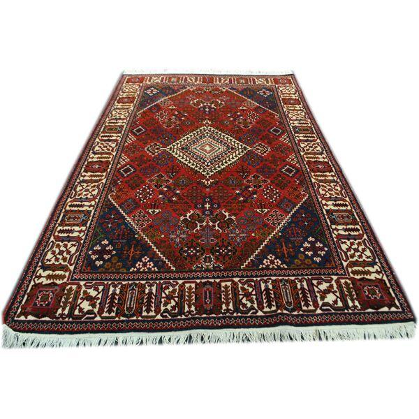 tapis persan rouge 207x132cm selency