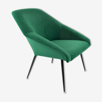 Fauteuil coquille verte