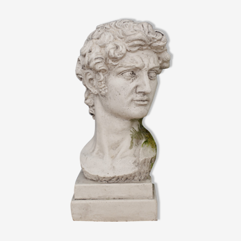 Tête David en plâtre plein petite série N°27