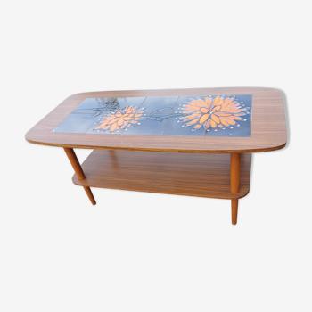 Teak coffee table and tiles DHALIA