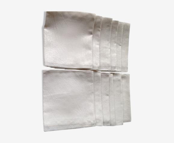 Lot de 12 serviettes de table anciennes, mais neuves