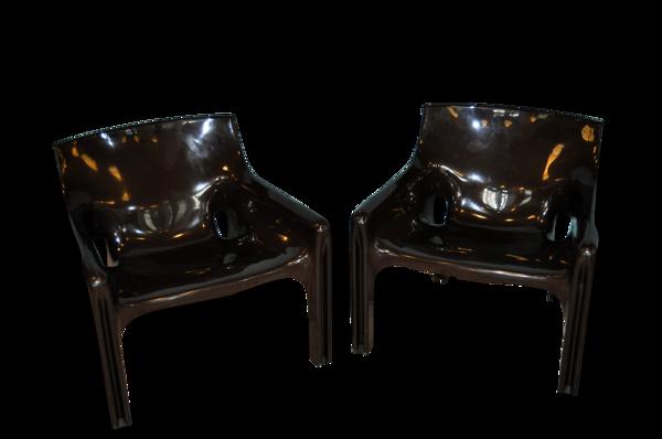 Paire de fauteuils Vicario de Vico Magitretti pour Artemide