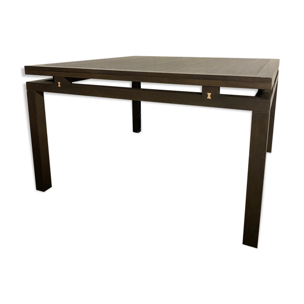 Selency Table de salle à manger carrée Ligne Roset wenge 130/130cm