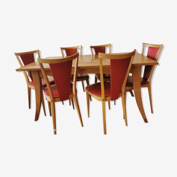 Table à manger et ses 6 chaises