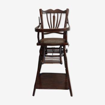 High modular baby chair in early 1900