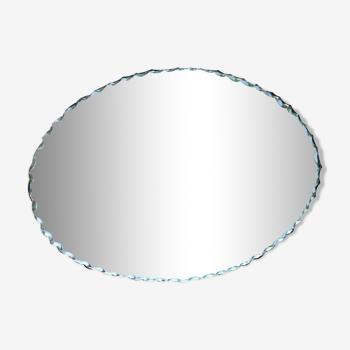 Miroir vintage bords biseautés (longueur 36,5cm)