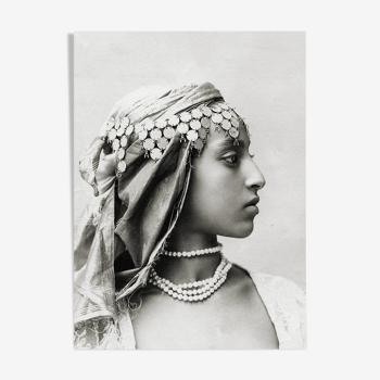 Profile portrait of a Moored woman, Algeria 19th century