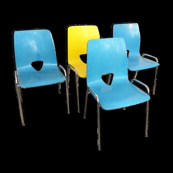 Selency Ensemble de chaises vintage