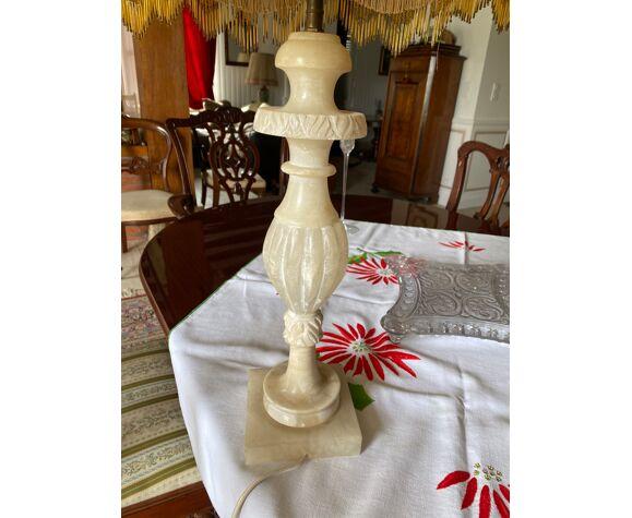 Lampe albâtre et abat jour