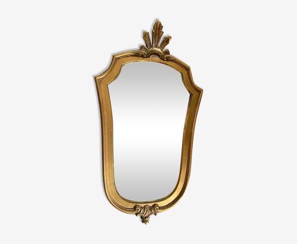 Miroir doré Louis XV 1950