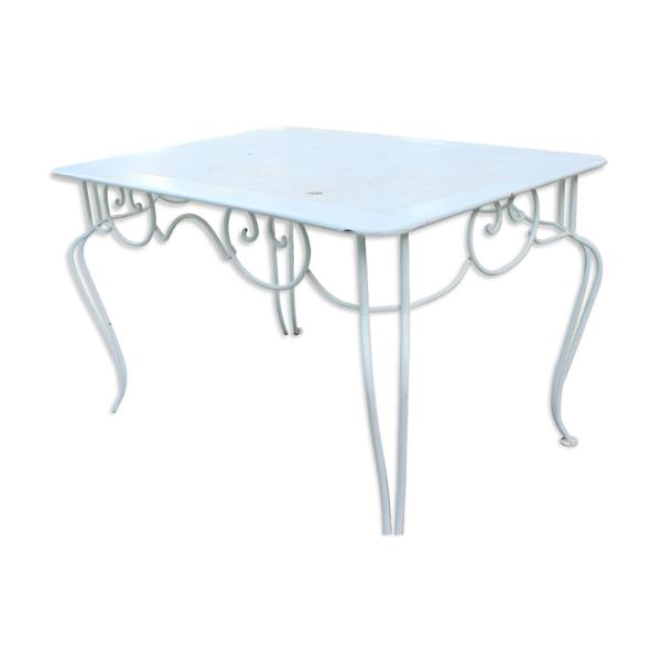 Table en fer forgé design des années 50 industriel vintage loft