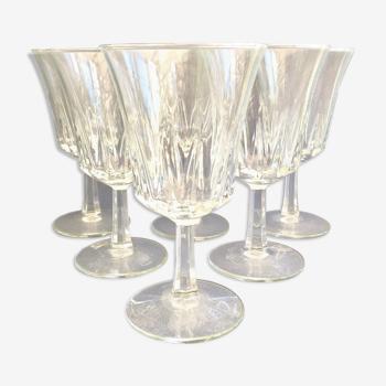 Set de 6 verres à vin vintage