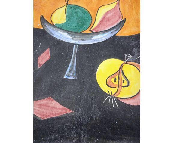 Cendrier italien en céramique des années 50