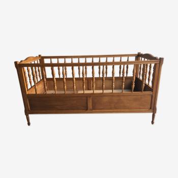 Massive wooden bar bed