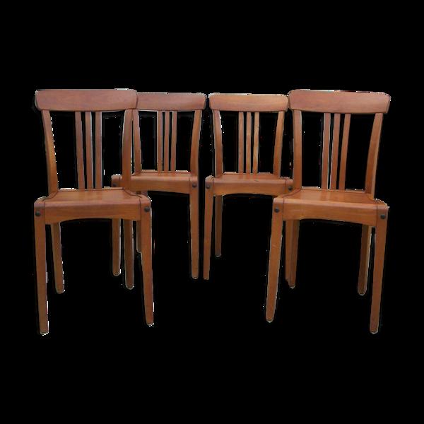 Série de 4 chaises  d'administration Vintage