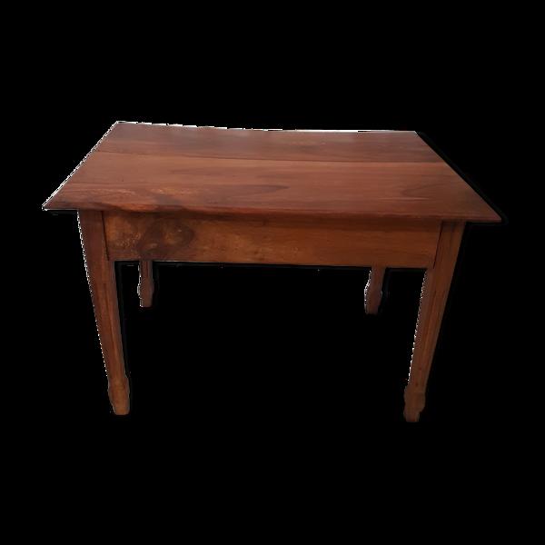 Selency Table en noyer avec tiroir