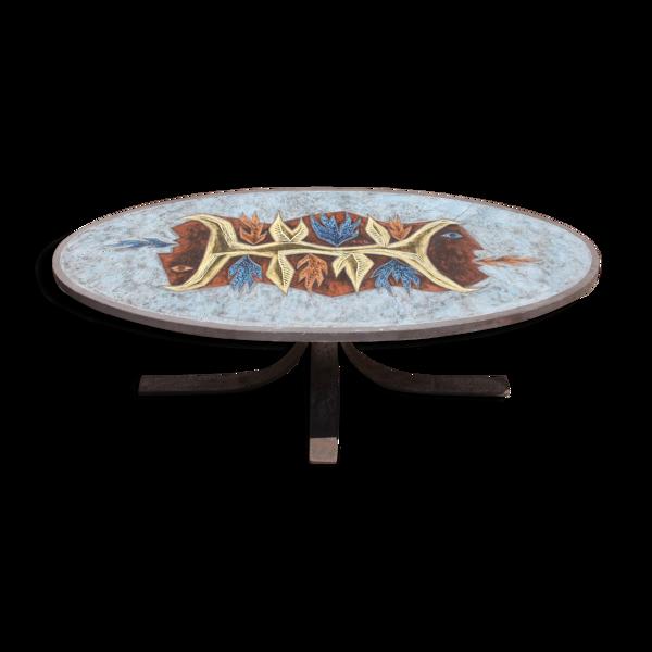 Table basse en céramique Jean Jaffeux
